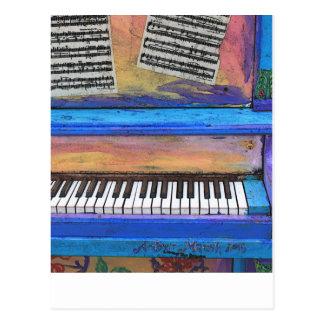 Buntes Klavier Postkarte