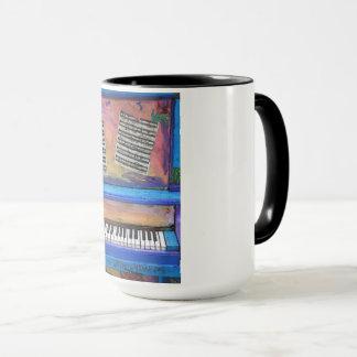 Buntes Klavier Tasse
