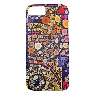 Buntes Kreis-Mosaik südwestlicher iPhone 7 Fall iPhone 8/7 Hülle