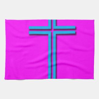 Buntes Kreuz Handtuch