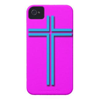 Buntes Kreuz iPhone 4 Etuis