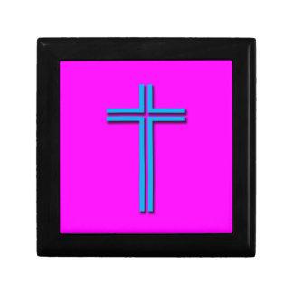 Buntes Kreuz Schmuckschachtel