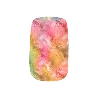 Buntes Kristallglas-Muster Minx Nagelkunst
