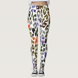 Buntes Leopard-Haut-Muster #20 Leggings
