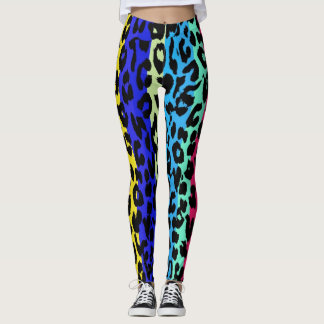 Buntes Leopard-Haut-Muster #23 Leggings