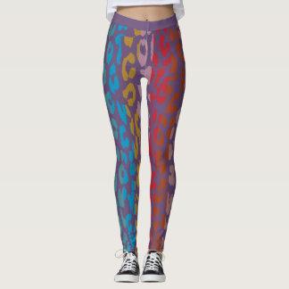 Buntes Leopard-Haut-Muster #6 Leggings