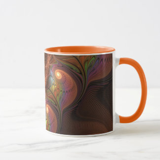 Buntes Leuchtstoff abstraktes modernes Tasse