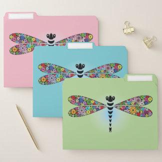 Buntes Libelledamselfly-Datei-Ordner-Set Papiermappe