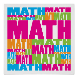 Buntes Mathe Plakatdrucke