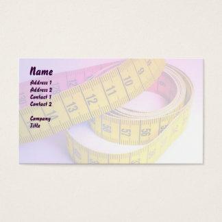 Buntes messendes Band Visitenkarte