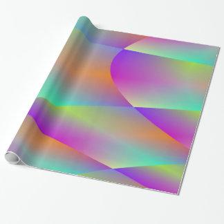 Buntes metallisches Fraktal-Verpackungs-Papier Geschenkpapier