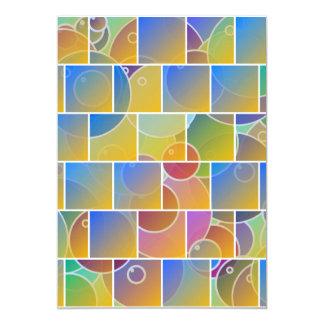 Buntes mit Ziegeln gedecktes Puzzlespiel Karte