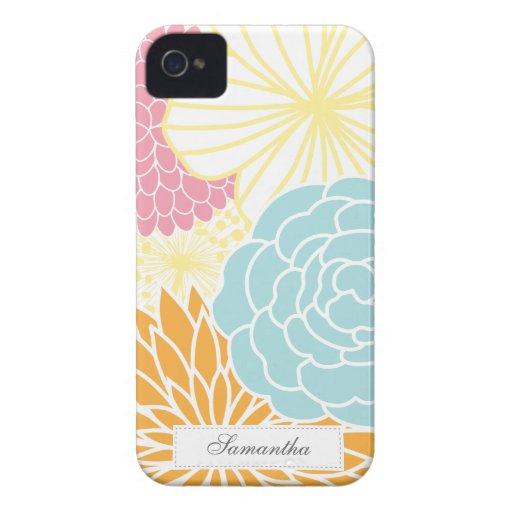 Buntes Mod mit Blumen iPhone 4 Case-Mate Hülle