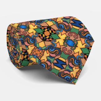Buntes modernes abstraktes Muster Krawatte