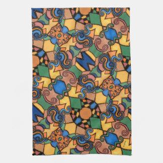 Buntes modernes abstraktes Muster Küchentuch