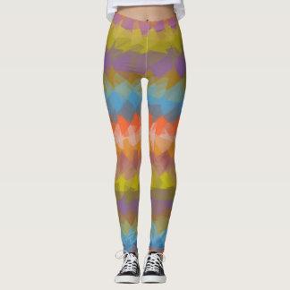 Buntes modernes geometrisches Muster #37 Leggings