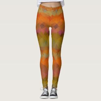 Buntes modernes geometrisches Muster #41 Leggings