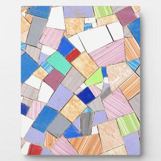 Buntes Mosaik Fotoplatte