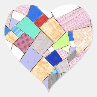 Buntes Mosaik Herz-Aufkleber