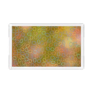 Buntes Muster Acryl Tablett