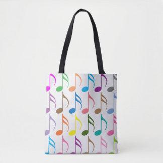 Buntes Muster der musikalischen Anmerkungen Tasche