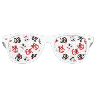 Buntes Muster des Comic-Schädels Sonnenbrille