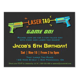 Buntes Neon-Laser-Umbau-Geburtstags-Party 10,8 X 14 Cm Einladungskarte