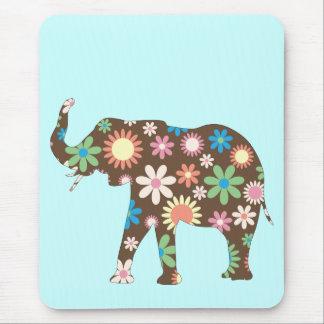 Buntes niedliches der ElefantFunky retro Mauspad