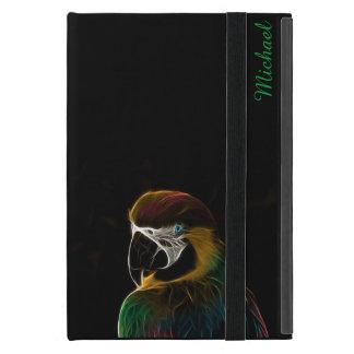 Buntes Papageien-Fraktal Digital iPad Mini Schutzhülle