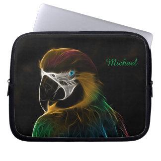 Buntes Papageien-Fraktal Digital Laptop Sleeve