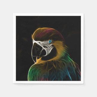 Buntes Papageien-Fraktal Digital Papierservietten