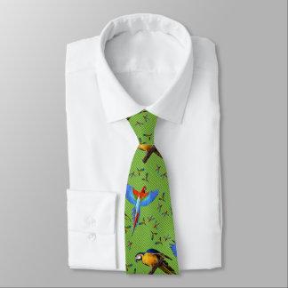 Buntes Papageien-Scharlachrot Blauund GoldMacaw Individuelle Krawatten