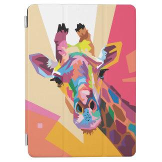 Buntes Pop-Kunst-Giraffen-Porträt iPad Air Hülle