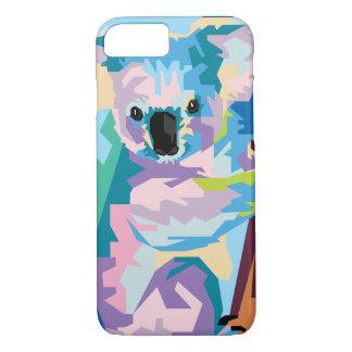 Buntes Pop-Kunst-Koala-Porträt iPhone 8/7 Hülle