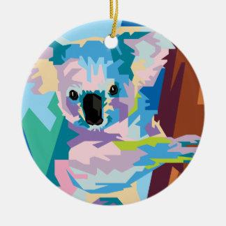 Buntes Pop-Kunst-Koala-Porträt Keramik Ornament