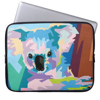 Buntes Pop-Kunst-Koala-Porträt Laptopschutzhülle