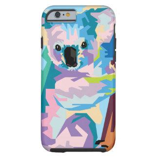 Buntes Pop-Kunst-Koala-Porträt Tough iPhone 6 Hülle