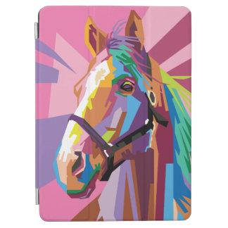 Buntes Pop-Kunst-Pferdeporträt iPad Air Cover