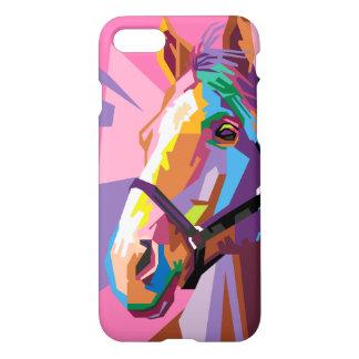 Buntes Pop-Kunst-Pferdeporträt iPhone 8/7 Hülle