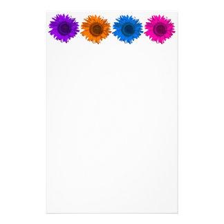 Buntes Pop-Kunst-Sonnenblume-Schreibens-Papier Briefpapier