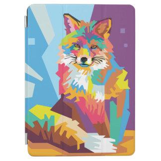 Buntes Pop-Kunstfox-Porträt iPad Air Hülle