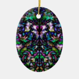 Buntes psychedelisches Kaleidoskopmuster Keramik Ornament