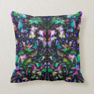 Buntes psychedelisches Kaleidoskopmuster Kissen