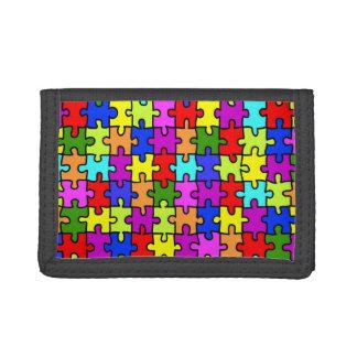 Buntes Puzzlemuster des Regenbogens