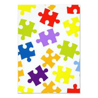 Buntes Puzzlespielmuster Karte