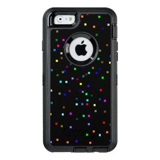 Buntes Quadrat-Muster auf schwarzem Hintergrund OtterBox iPhone 6/6s Hülle