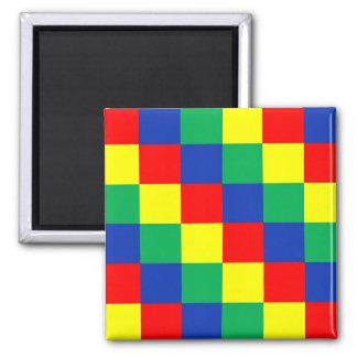 Buntes quadratisches Muster Quadratischer Magnet