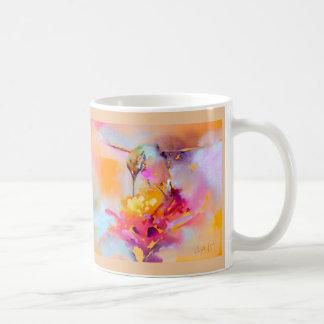 """Buntes Quaff"" Kolibri-Druck Kaffeetasse"