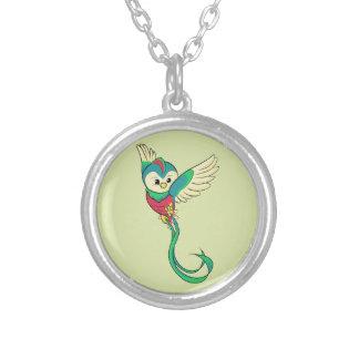 Buntes Quetzal! Versilberte Kette