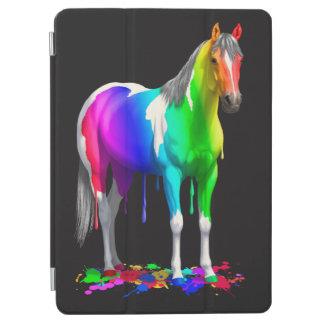 Buntes Regenbogen-Bratenfett-Farben-Pferd iPad Air Cover